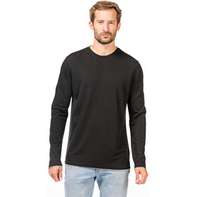 super.natural Piquet LS Shirt Herren jet black/ash melange